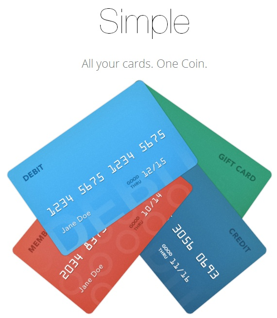 Simple, All your cards, One Coin